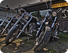 Bikes vorm Clubhouse des ROADE EAGLE MC Arnsdorf